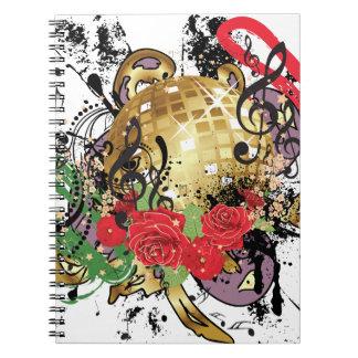 Boule grunge 2 de disco d'or carnet
