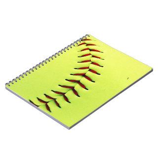 Boule jaune du base-ball carnets