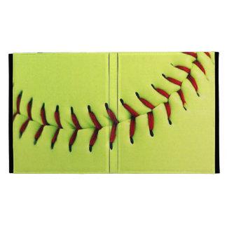 Boule jaune du base-ball coques iPad folio