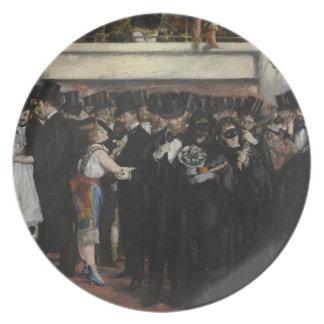Boule masquée de Manet | à l'opéra, 1873 Assiettes En Mélamine