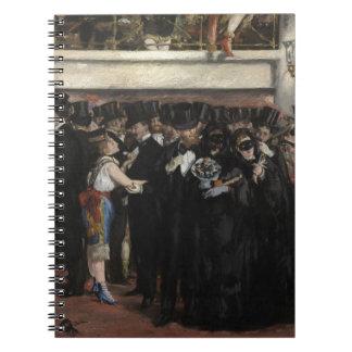Boule masquée de Manet   à l'opéra, 1873 Carnet À Spirale