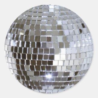 Boule reflétée 1 de disco sticker rond