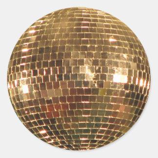 Boule reflétée 2 de disco sticker rond