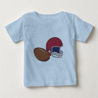 Boule rouge du casque de football n t-shirt pour bébé
