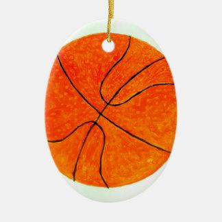 Boule Sketch3 de basket-ball Ornement Ovale En Céramique