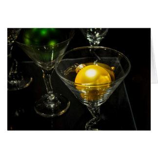 Boule vintage Martini d'ornement de vacances Carte De Vœux