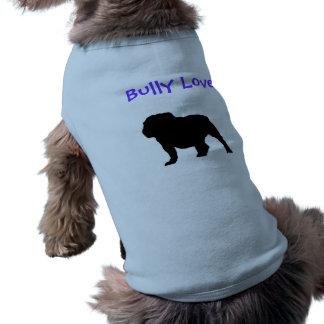 Bouledogue anglais 2 d'amour de despote t-shirt pour chien