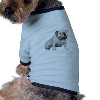 Bouledogue anglais - blanc 1 t-shirts pour chien