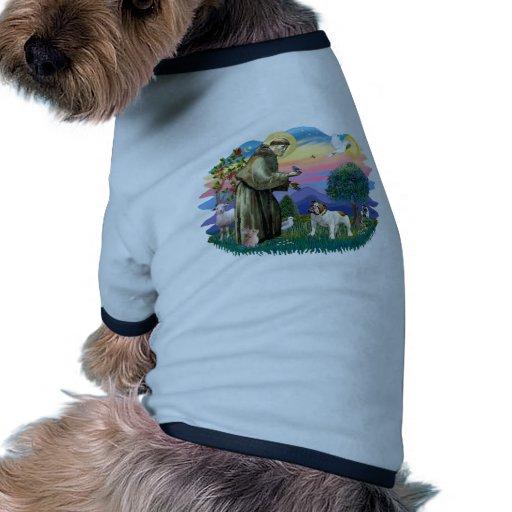 Bouledogue anglais (brun-blanc) tee-shirts pour animaux domestiques