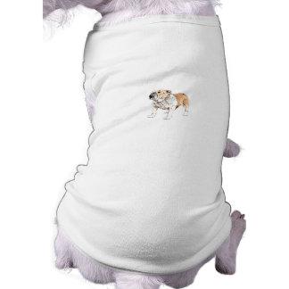 Bouledogue anglais t-shirt pour chien