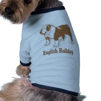 Bouledogue anglais t-shirt ringer pour chien