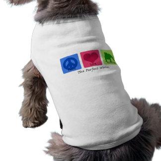 Bouledogue d'amour de paix t-shirt pour chien