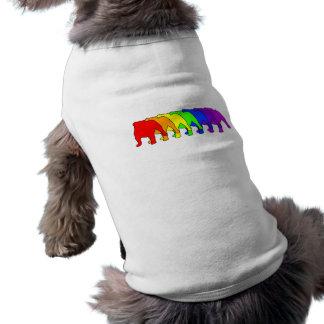 Bouledogue d'arc-en-ciel t-shirt pour chien