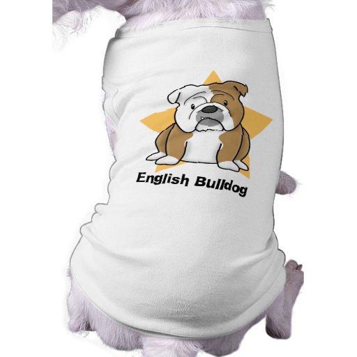 Bouledogue de l'anglais d'étoile de Kawaii T-shirts Pour Chien