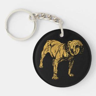 Bouledogue d'or porte-clés