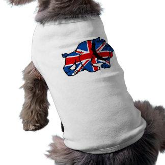 Bouledogue d'Union Jack les Anglais T-shirt Pour Chien