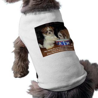 Bouledogue et chiot anglais de Shih Tzu T-shirts Pour Chien