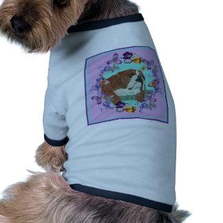 Bouledogue et fleurs anglais manteaux pour animaux domestiques