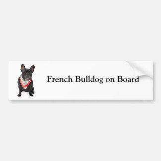 Bouledogue français à bord d adhésif pour pare-cho autocollant pour voiture