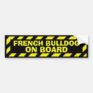Bouledogue français à bord d'autocollant jaune de autocollant pour voiture