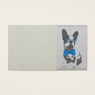 Bouledogue français animal vintage à la mode drôle cartes de visite