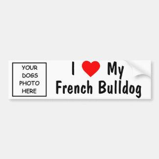 Bouledogue français autocollant pour voiture