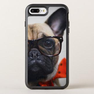 Bouledogue français avec les verres et la cravate coque otterbox symmetry pour iPhone 7 plus