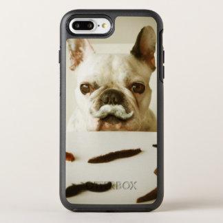 Bouledogue français avec une moustache coque otterbox symmetry pour iPhone 7 plus