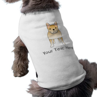 Bouledogue français crème. Bande dessinée de chien T-shirt Pour Chien