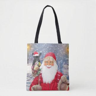 Bouledogue français de cadeaux de Noël du père Tote Bag