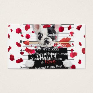 Bouledogue français de Saint-Valentin Cartes De Visite
