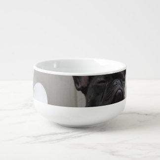 Bouledogue français noir mug à soupe
