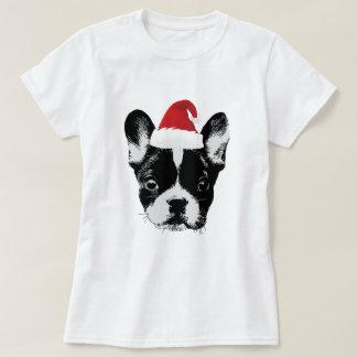 Bouledogue français Père Noël Frenchie de Noël T-shirt