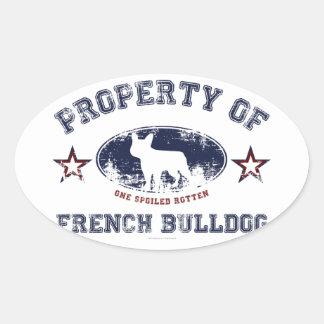 Chiot bouledogue fran ais autocollants stickers chiot for Autocollant mural francais