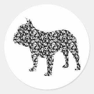 Bouledogue français sticker rond
