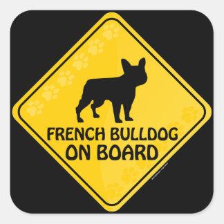 Bouledogue français Xing Sticker Carré