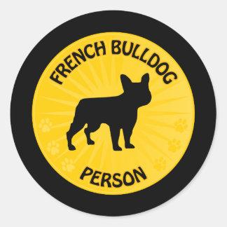Bouledogue français Xing Sticker Rond