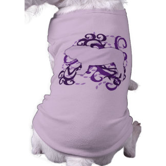 Bouledogue pourpre de l'anglais de remous t-shirt pour chien