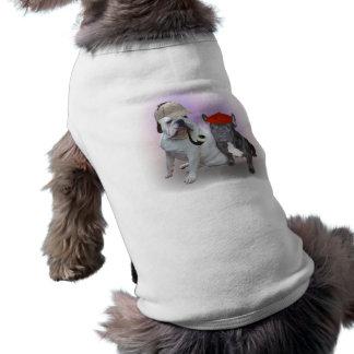 Bouledogues anglais et français t-shirt pour chien
