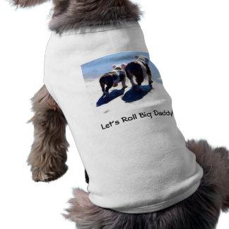 Bouledogues anglais t-shirt pour chien