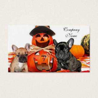 Bouledogues français de Halloween Cartes De Visite