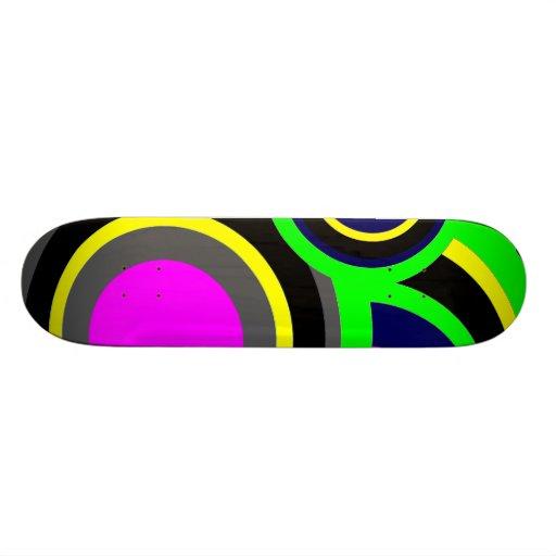 Boules d'arc-en-ciel skateboards cutomisables