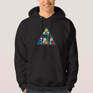 Boules de billard étirées sweatshirts avec capuche