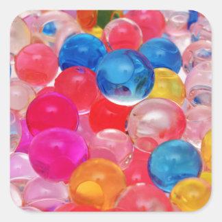 boules de gelée de texture sticker carré
