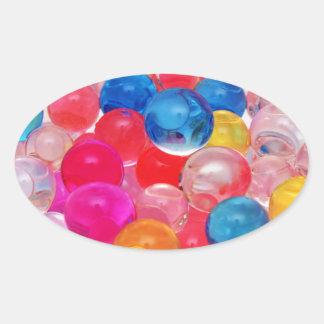 boules de gelée de texture sticker ovale