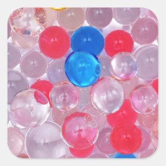 boules de gelée sticker carré