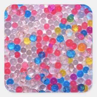 boules de l'eau de colore sticker carré