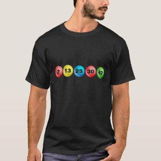 Boules de loterie, 2, 13, 25, 30, 42 t-shirt