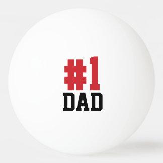 Boules de ping-pong de fête des pères de papa du balle tennis de table