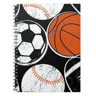 Boules de sport collectif carnets à spirale